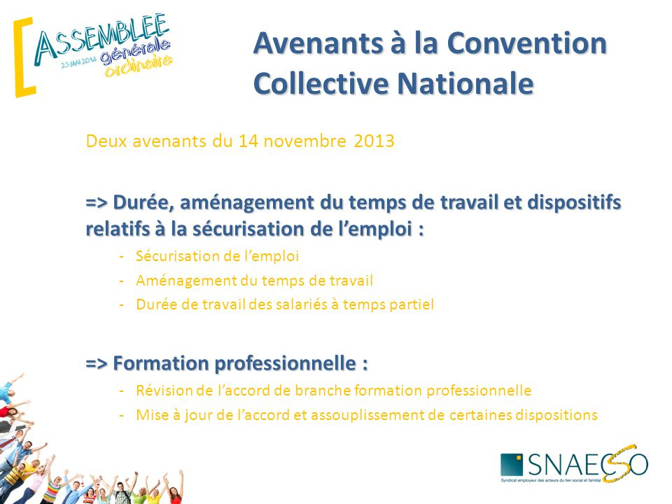 Avenants à la Convention Collective Nationale