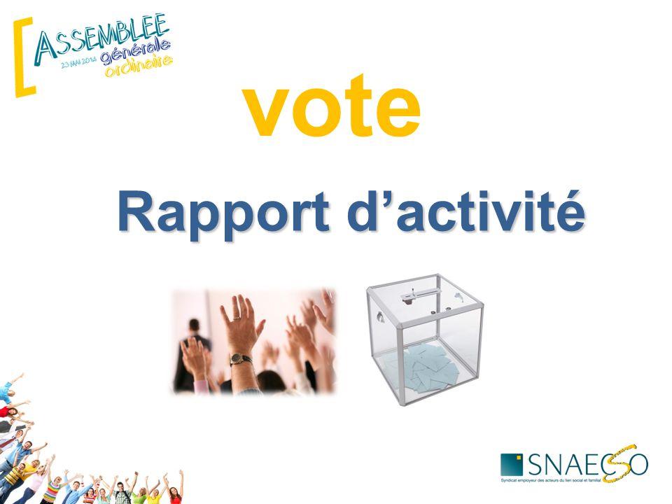 vote Rapport d'activité