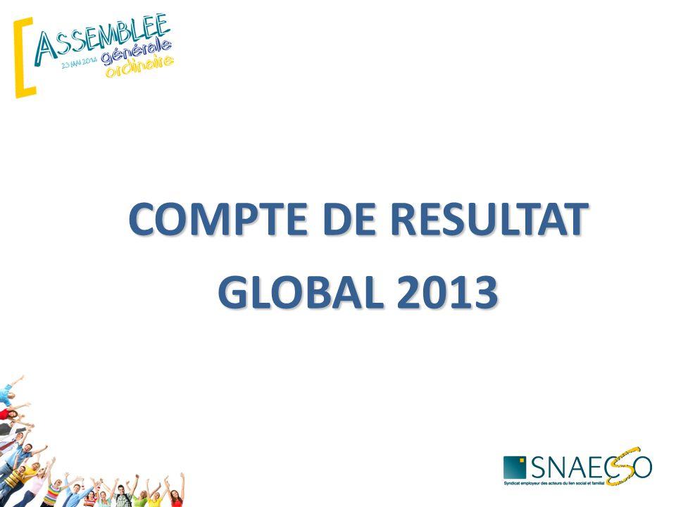 COMPTE DE RESULTAT GLOBAL 2013