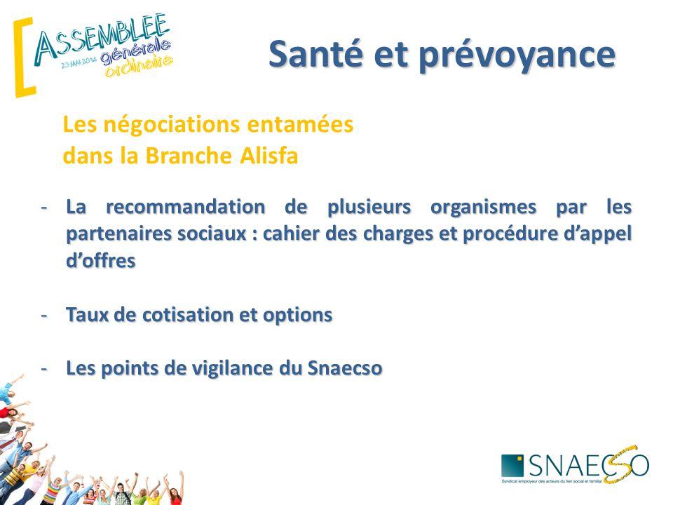 Santé et prévoyance Les négociations entamées dans la Branche Alisfa