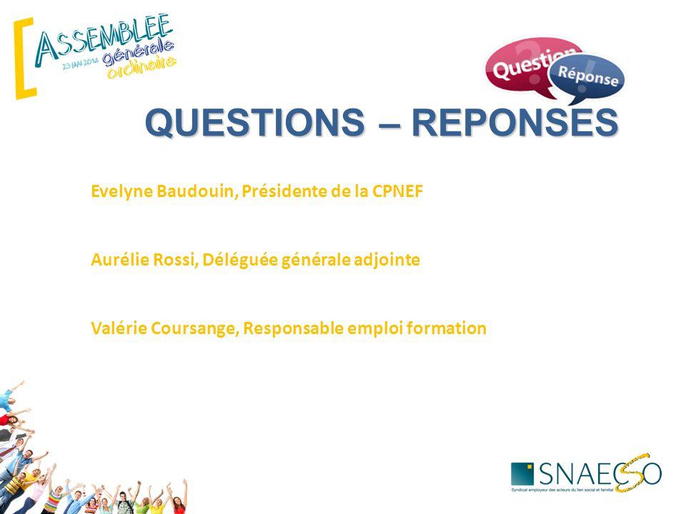 QUESTIONS – REPONSES ECHANGES Evelyne Baudouin, Présidente de la CPNEF