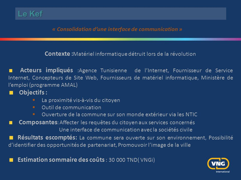 « Consolidation d'une interface de communication »