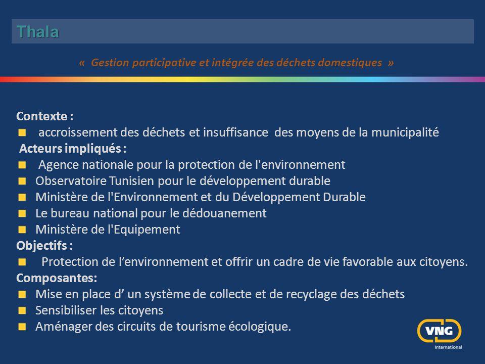 « Gestion participative et intégrée des déchets domestiques »