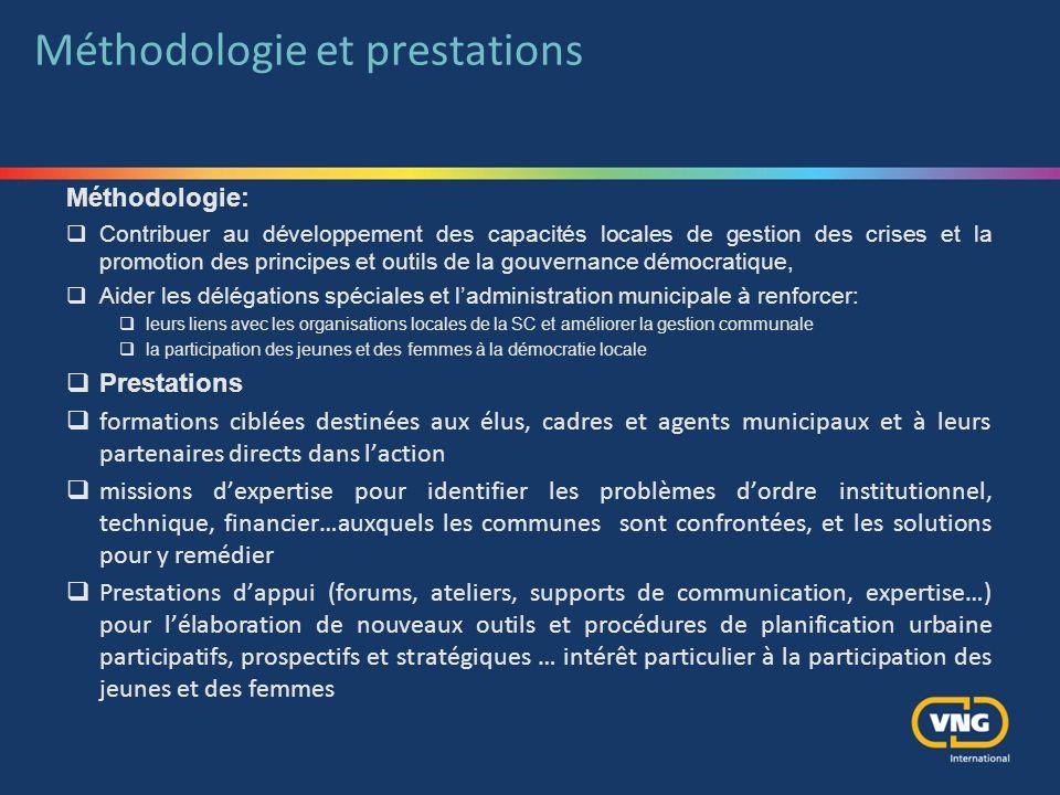 Méthodologie et prestations
