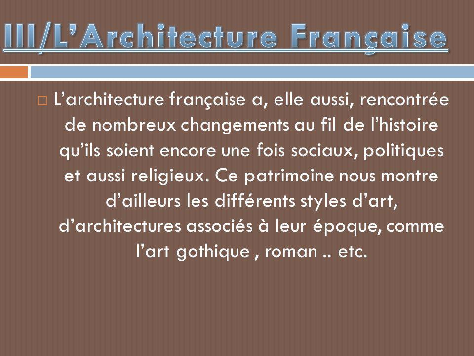 III/L'Architecture Française