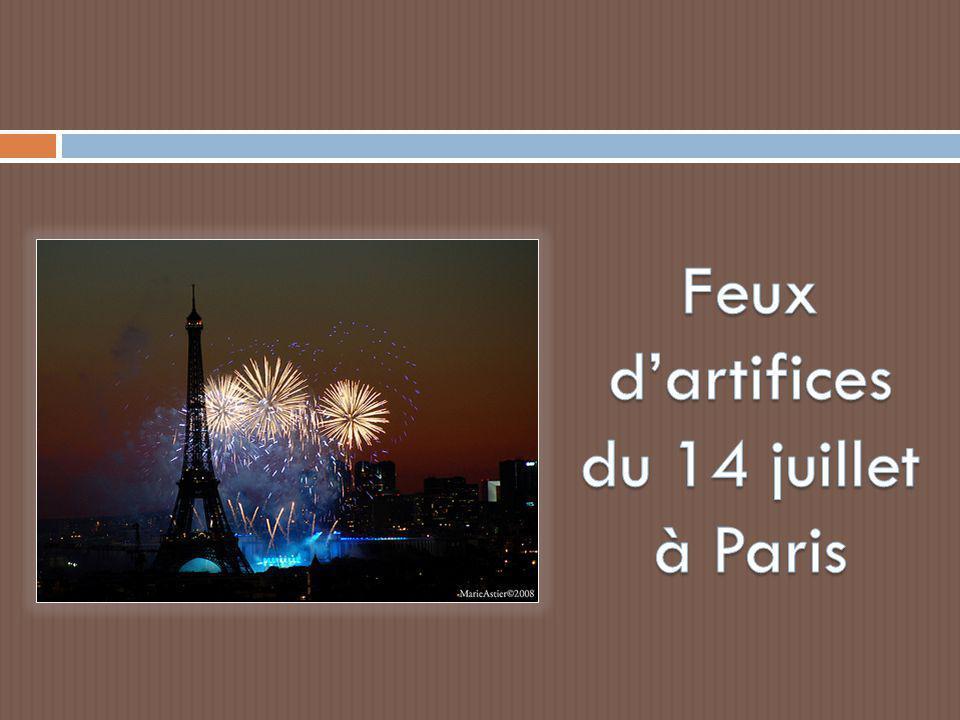 Feux d'artifices du 14 juillet à Paris