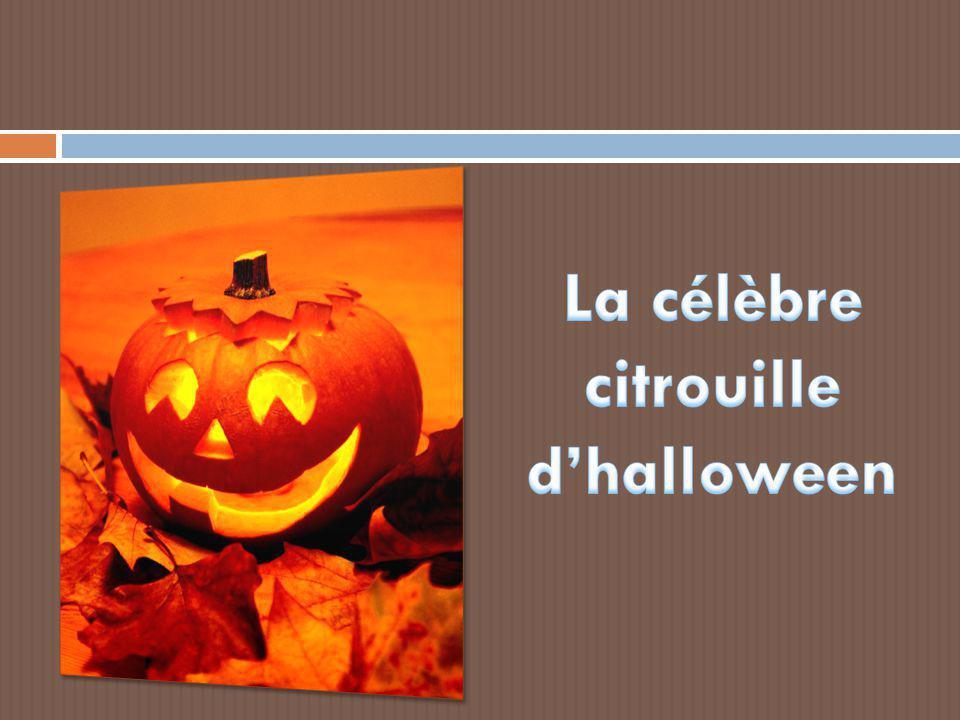 La célèbre citrouille d'halloween