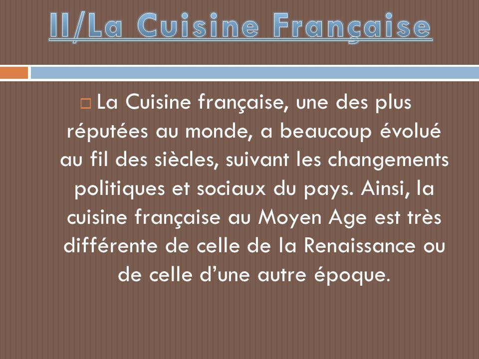 II/La Cuisine Française