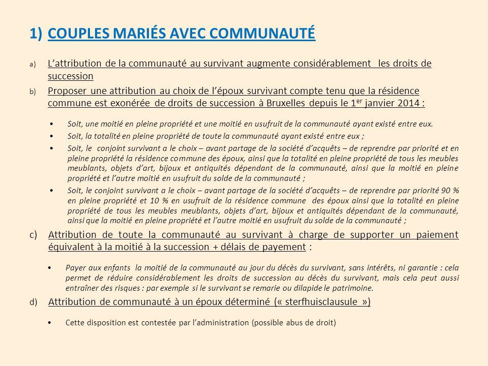 COUPLES MARIÉS AVEC COMMUNAUTÉ