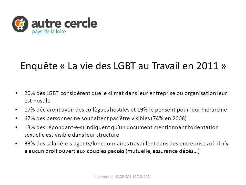 Enquête « La vie des LGBT au Travail en 2011 »