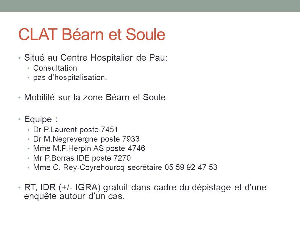 CLAT Béarn et Soule Situé au Centre Hospitalier de Pau: