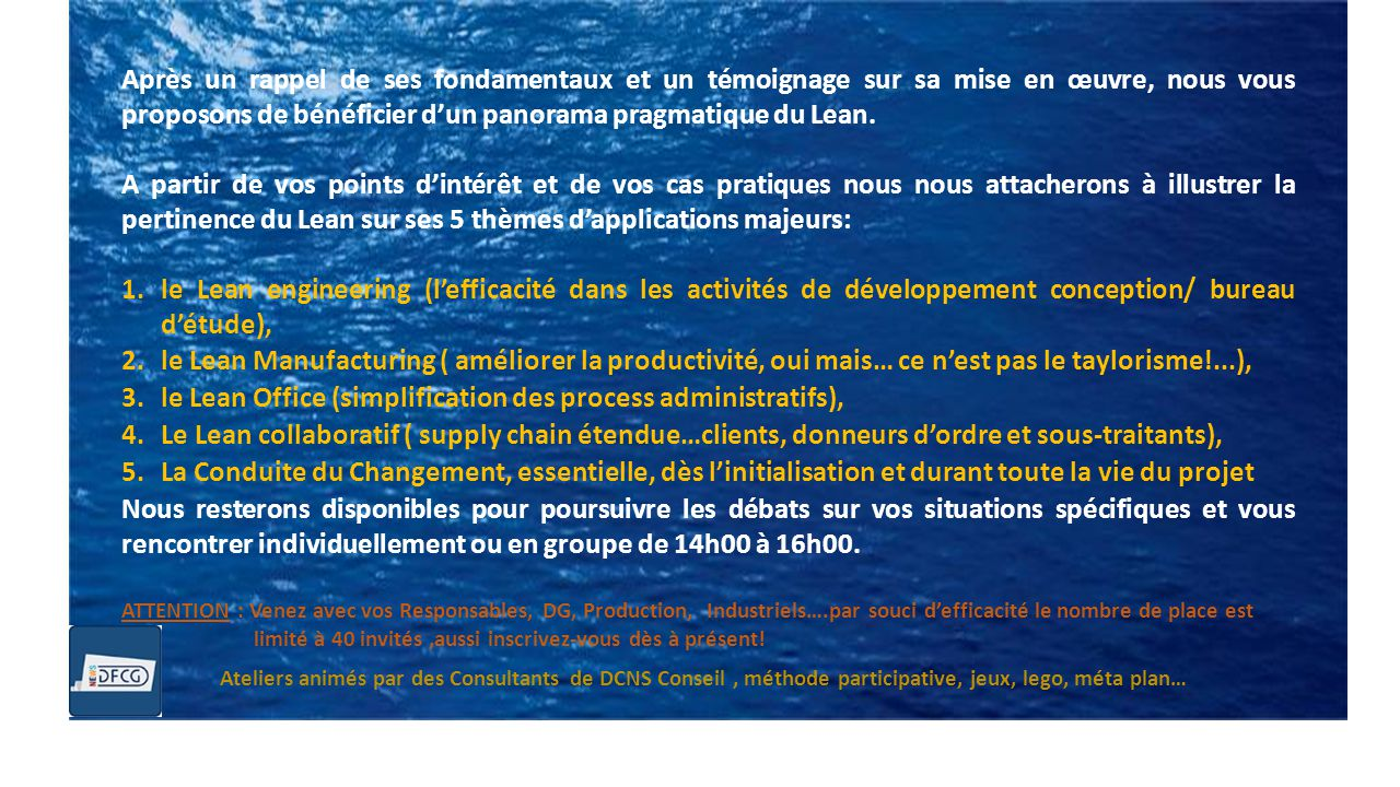 le Lean Office (simplification des process administratifs),