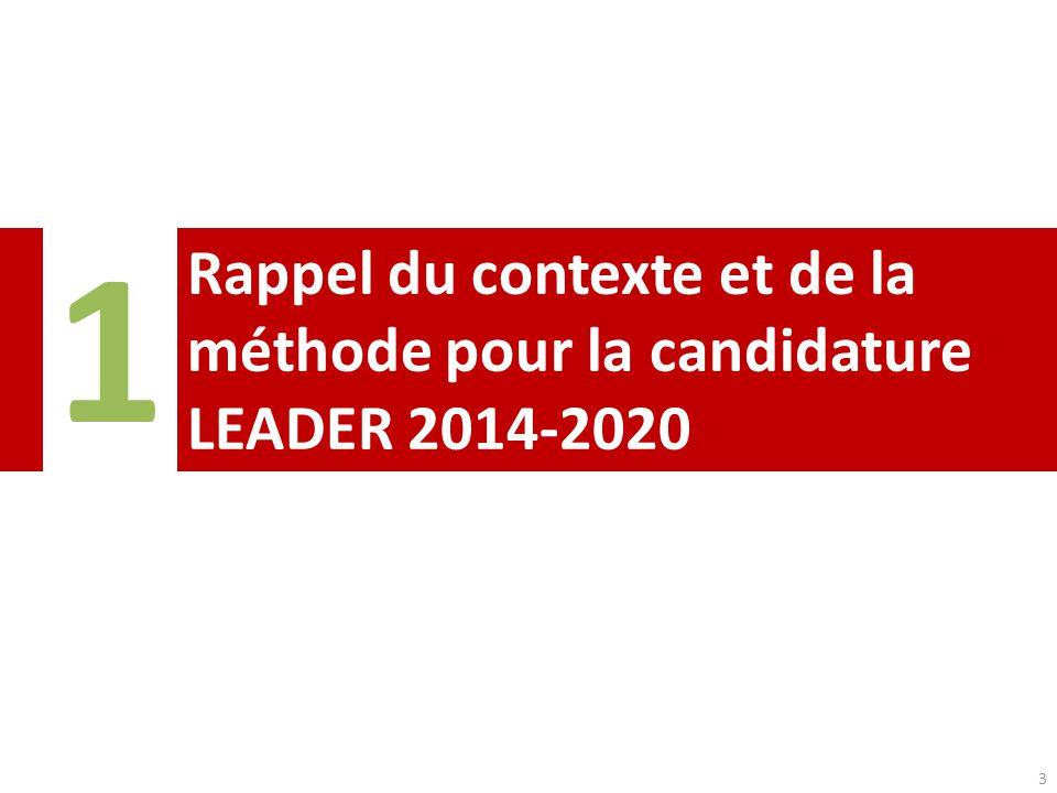 1 Rappel du contexte et de la méthode pour la candidature LEADER 2014-2020