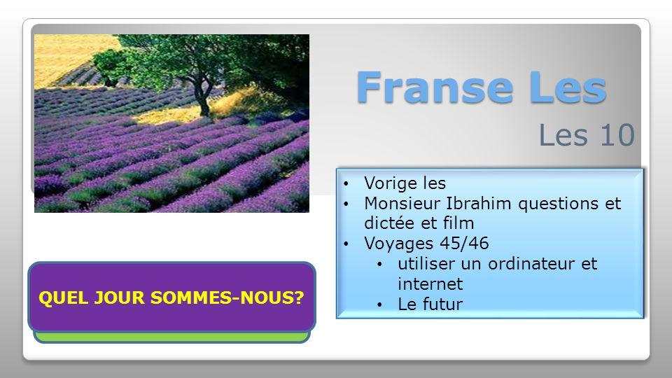 Franse Les Les 10 Vorige les