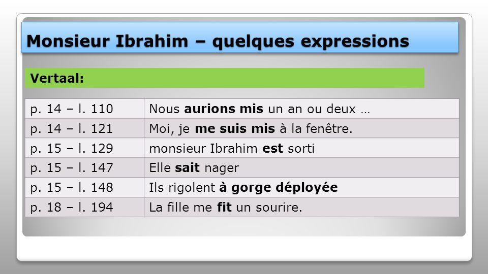 Monsieur Ibrahim – quelques expressions