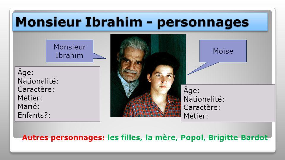 Monsieur Ibrahim - personnages