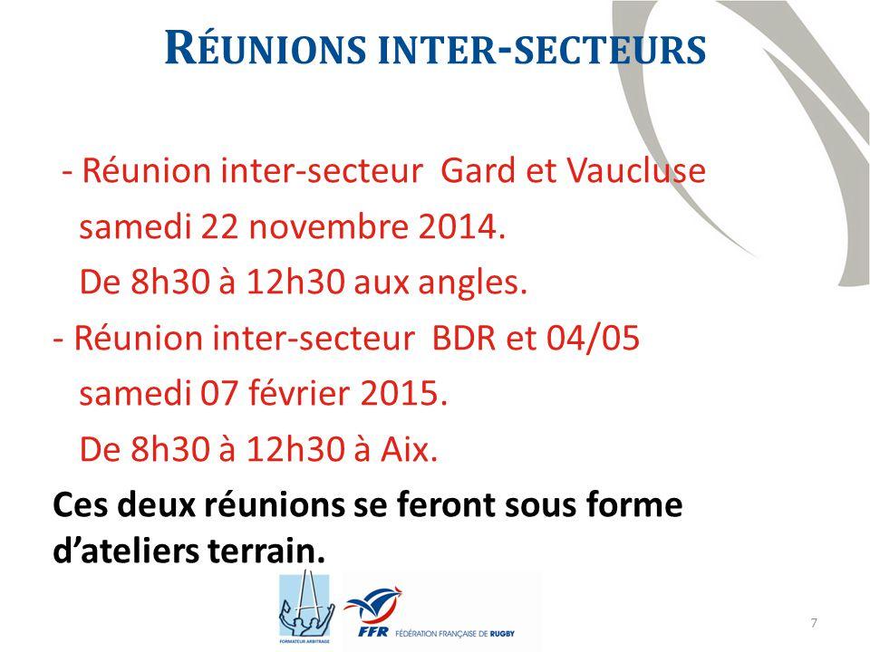 Réunions inter-secteurs
