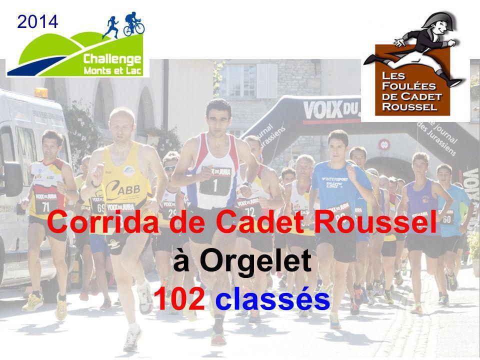 Corrida de Cadet Roussel à Orgelet 102 classés