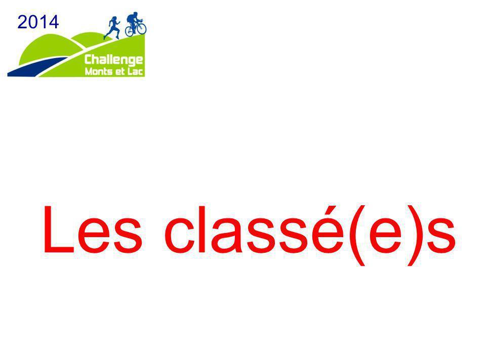 2014 Les classé(e)s