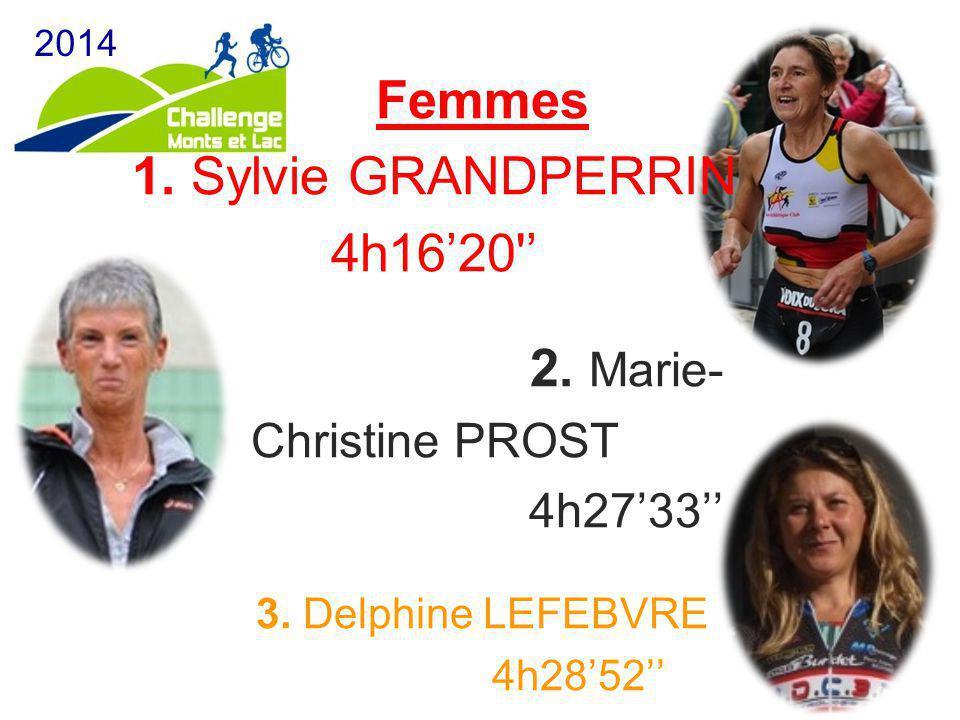 2014 Femmes 1. Sylvie GRANDPERRIN 4h16'20 ' 2.