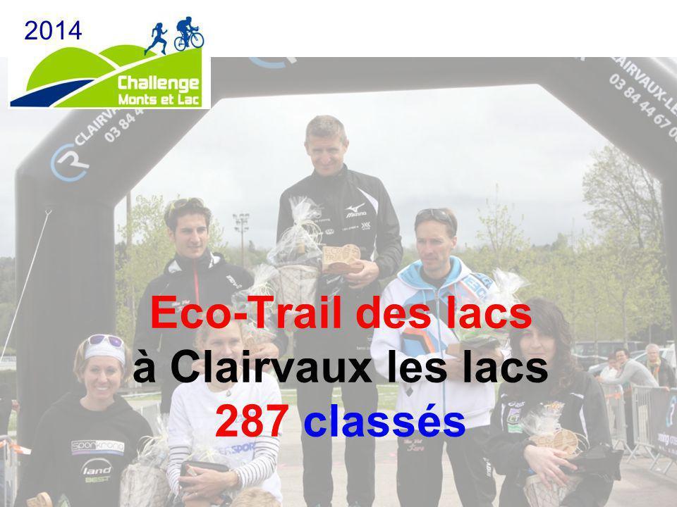 Eco-Trail des lacs à Clairvaux les lacs 287 classés