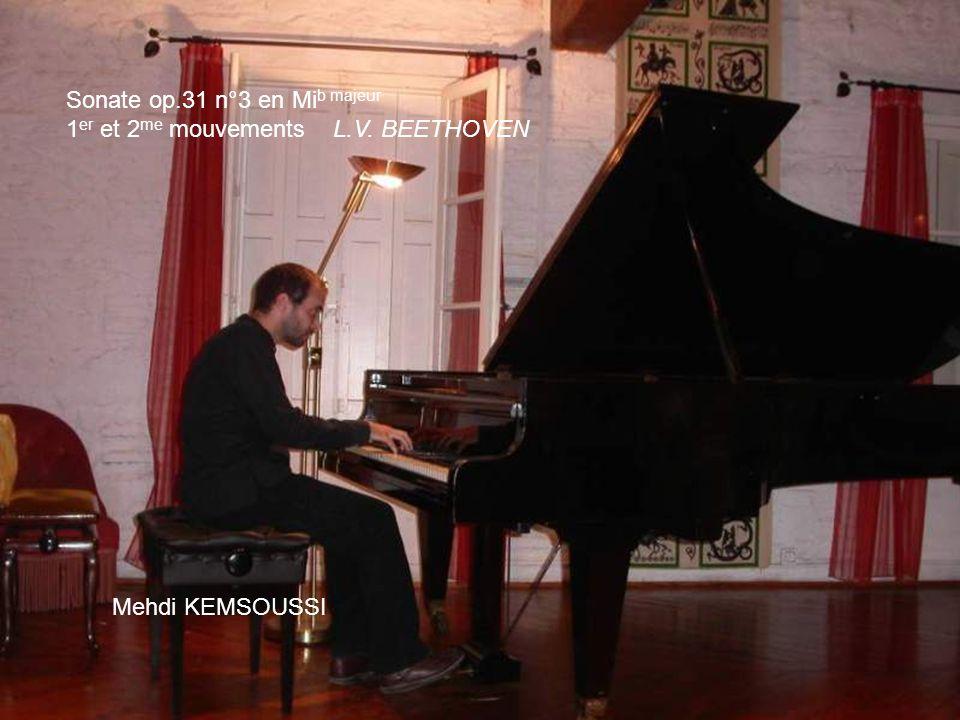 Sonate op.31 n°3 en Mib majeur