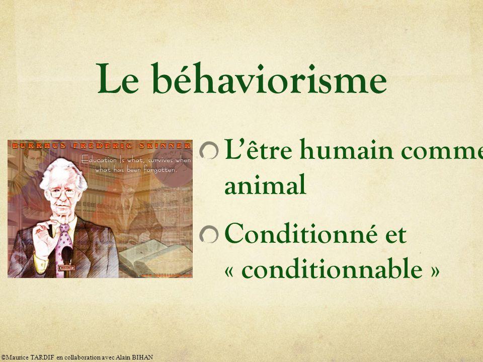 Le béhaviorisme L'être humain comme animal