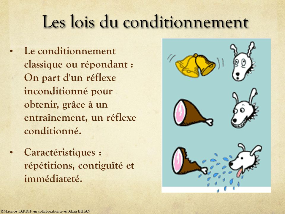 Les lois du conditionnement