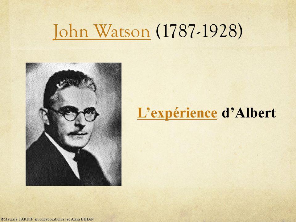 John Watson (1787-1928) L'expérience d'Albert