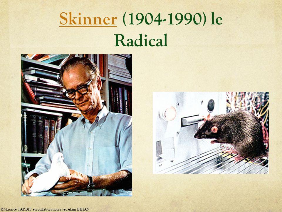 Skinner (1904-1990) le Radical ©Maurice TARDIF en collaboration avec Alain BIHAN