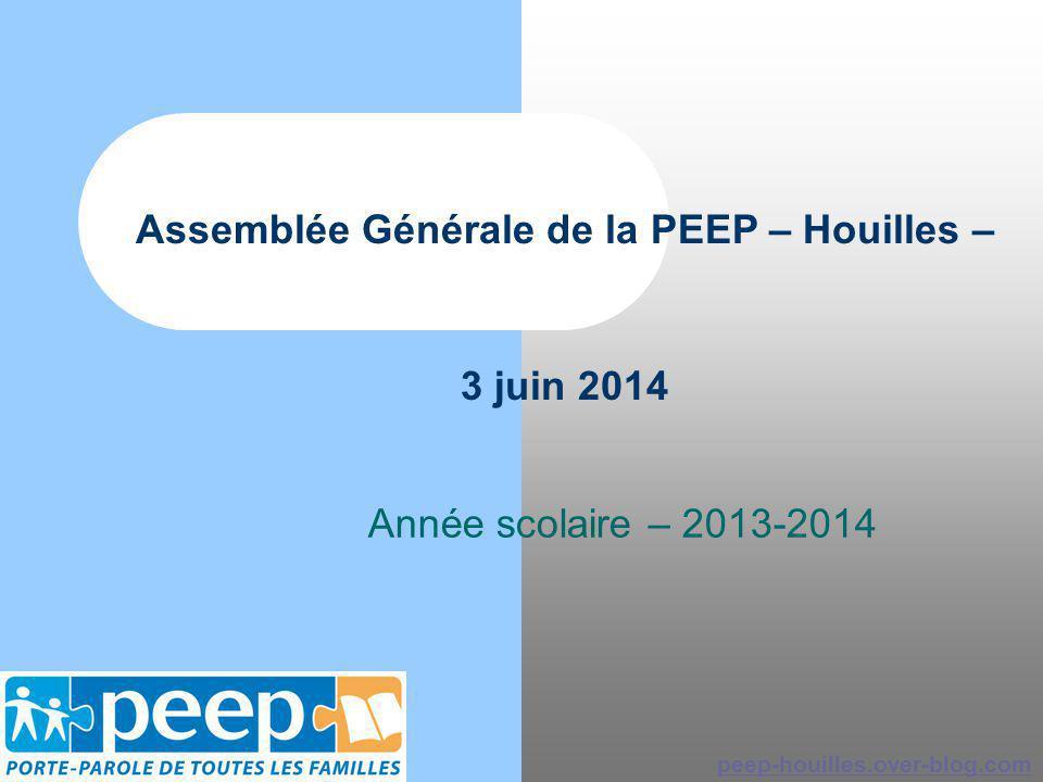 Assemblée Générale de la PEEP – Houilles – 3 juin 2014