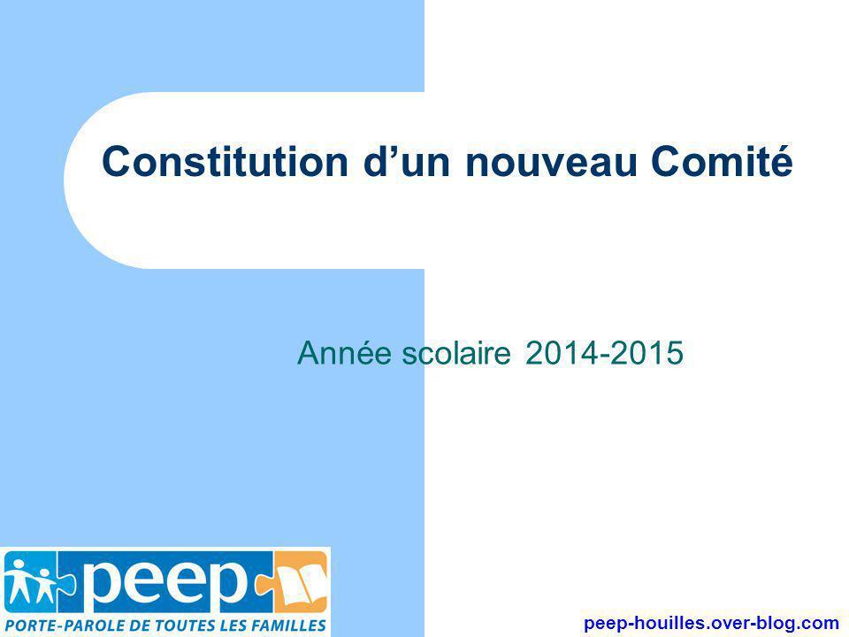 Constitution d'un nouveau Comité