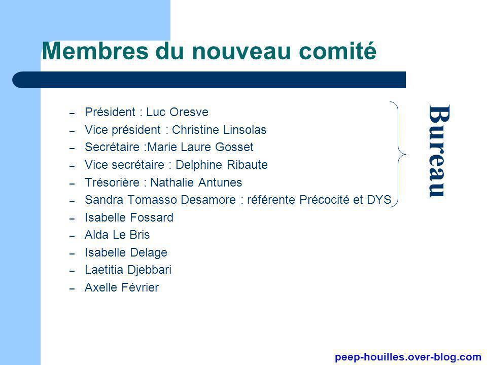 Membres du nouveau comité