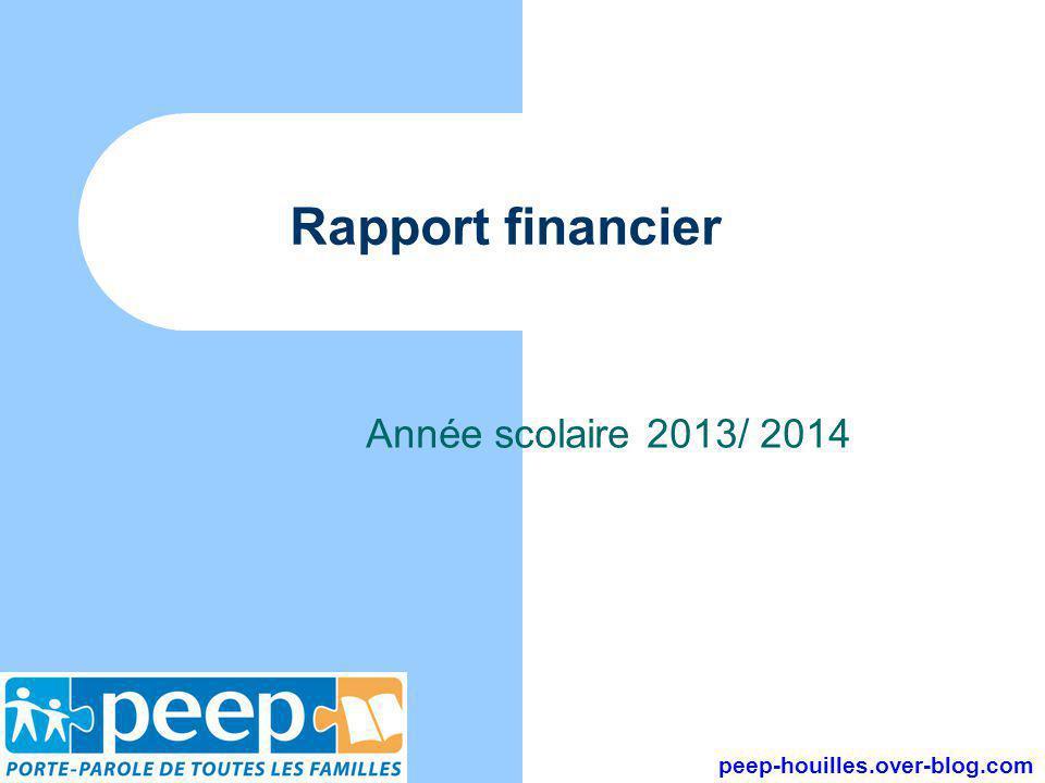 Rapport financier Année scolaire 2013/ 2014