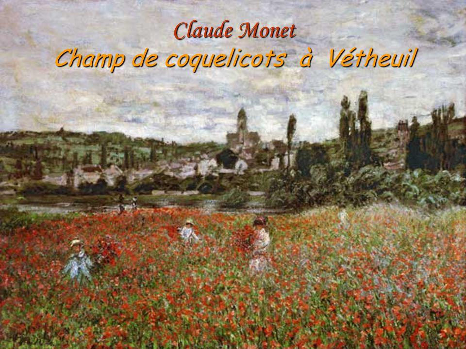 Claude Monet Champ de coquelicots à Vétheuil