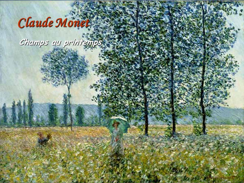 Claude Monet Champs au printemps AuraStefanescu