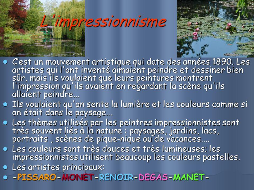 L impressionnisme