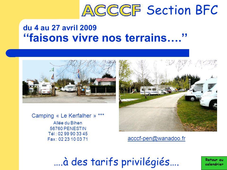 du 4 au 27 avril 2009 ''faisons vivre nos terrains….''