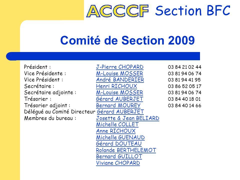 Section BFC Comité de Section 2009