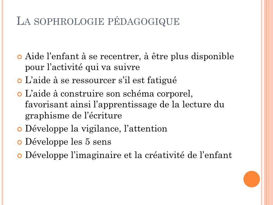 La sophrologie pédagogique