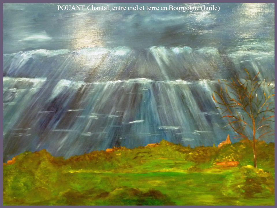 POUANT Chantal, entre ciel et terre en Bourgogne (huile)