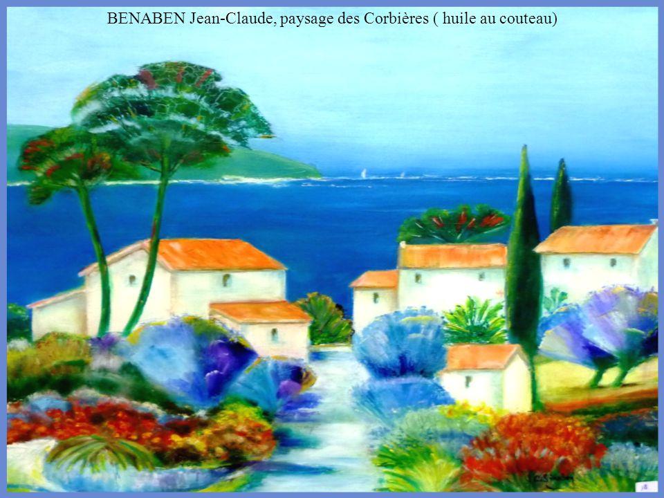 BENABEN Jean-Claude, paysage des Corbières ( huile au couteau)