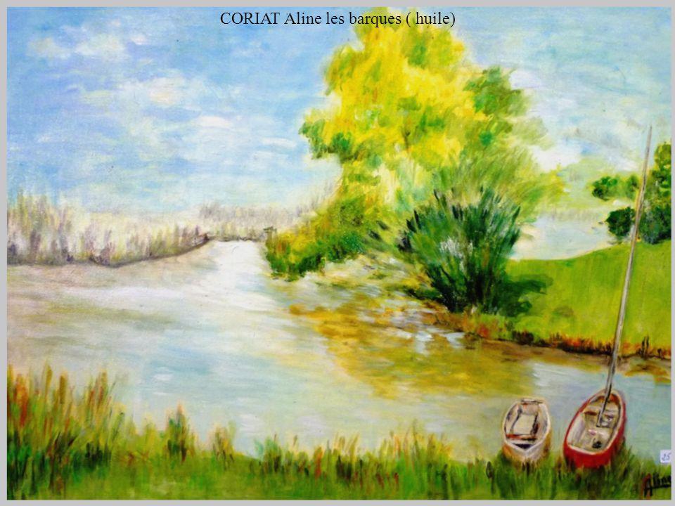CORIAT Aline les barques ( huile)