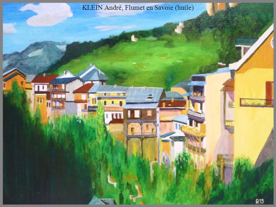 KLEIN André, Flumet en Savoie (huile)