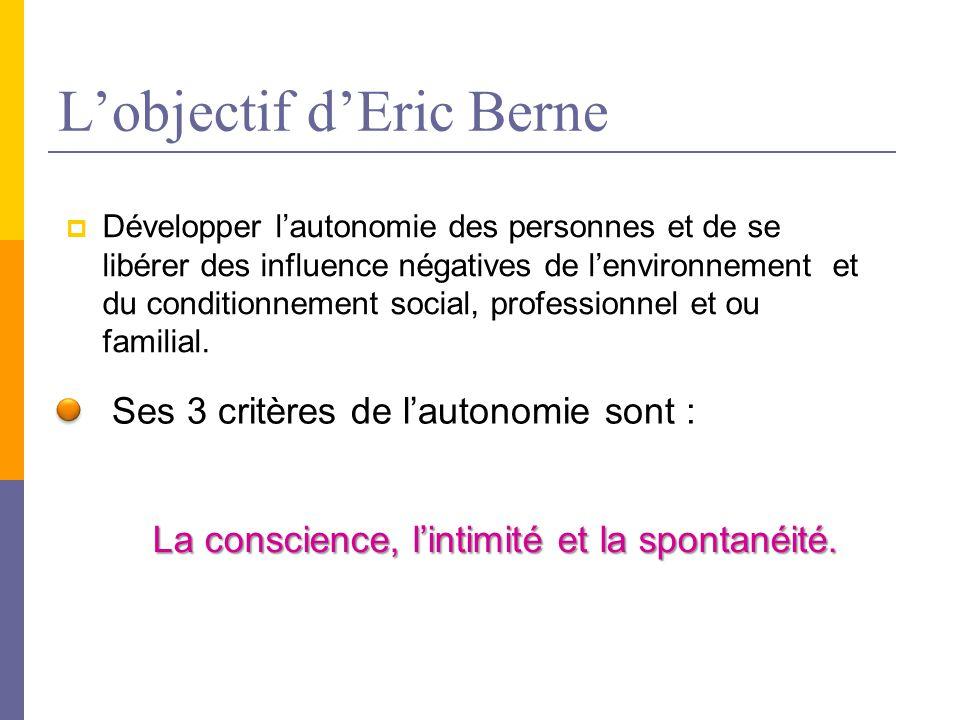 L'objectif d'Eric Berne