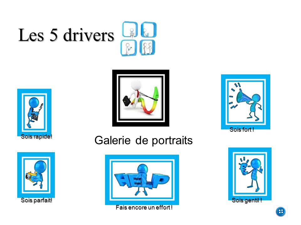 Les 5 drivers Galerie de portraits Sois fort ! Sois gentil !