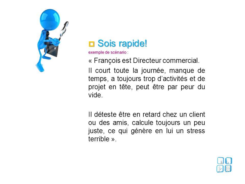 Sois rapide! « François est Directeur commercial.