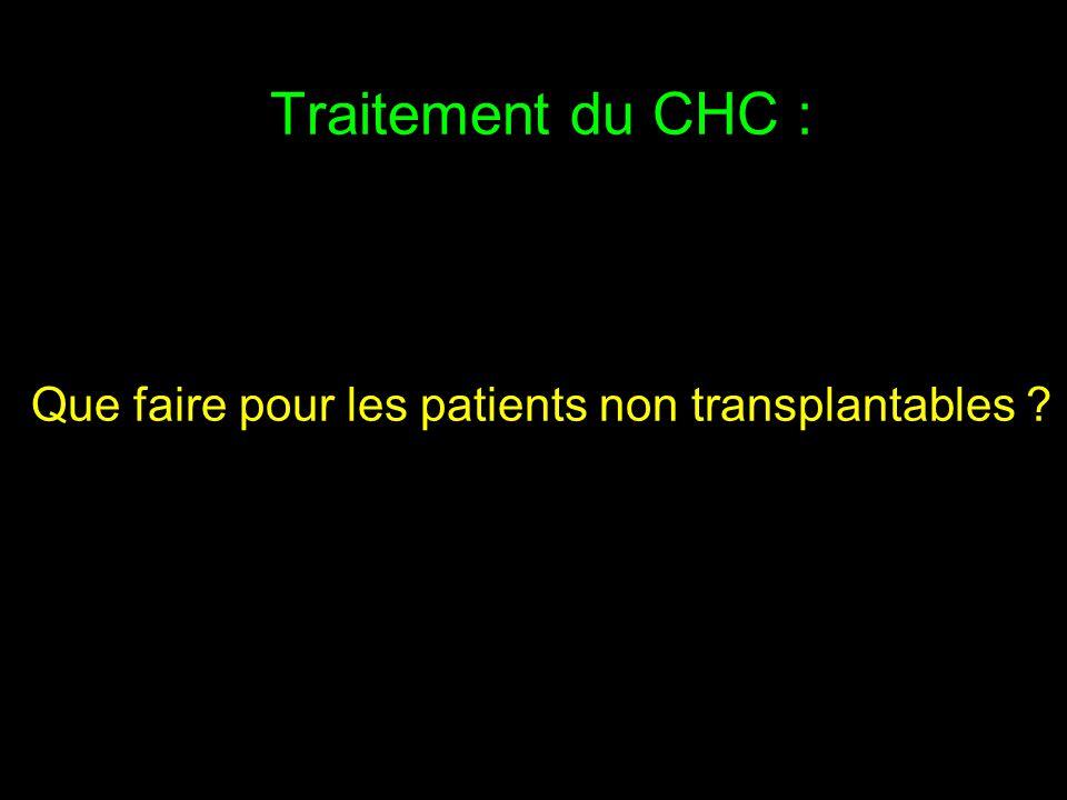 Traitement du CHC : Que faire pour les patients non transplantables
