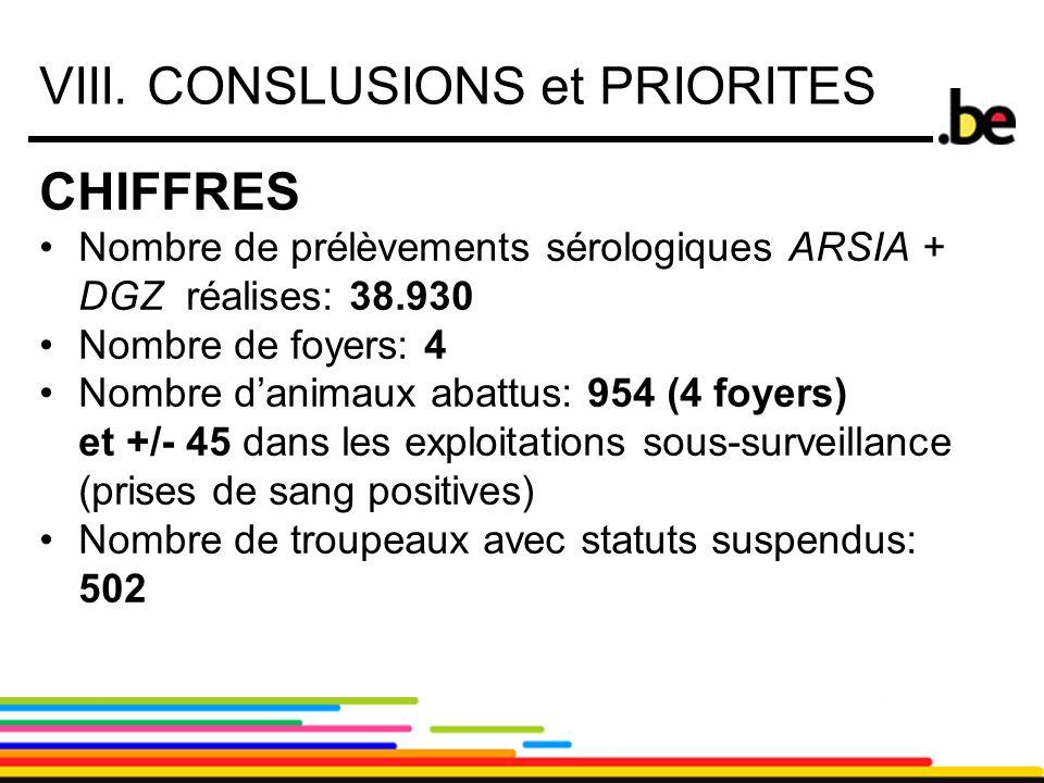 VIII. CONSLUSIONS et PRIORITES