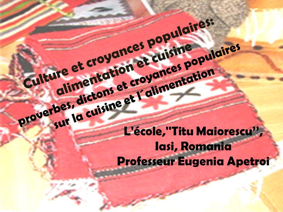 L école, Titu Maiorescu'', Iasi, Romania Professeur Eugenia Apetroi
